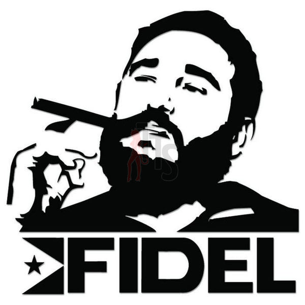 Fidel Castro Cuba Decal Sticker