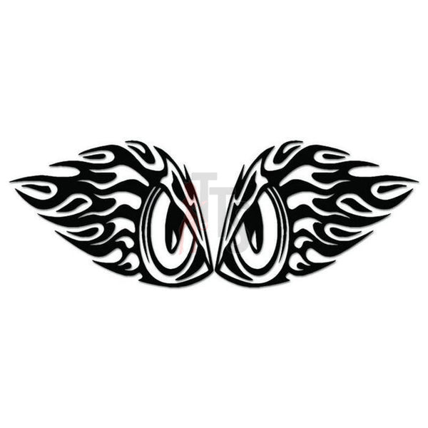 Flaming Owl Eyes Decal Sticker