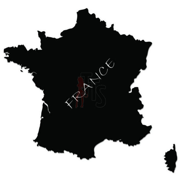 France Country Map Decal Sticker
