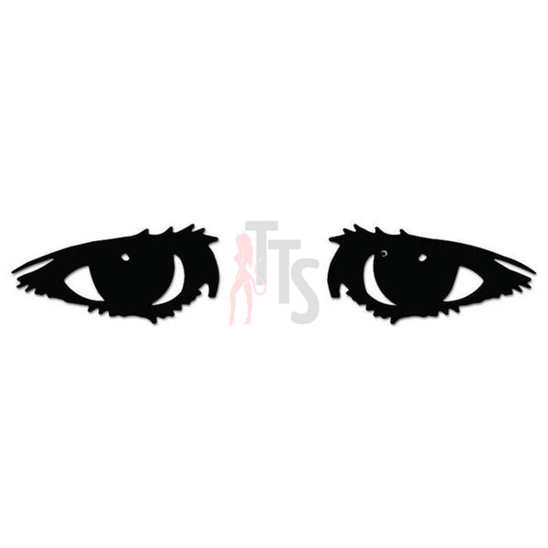 Girl Eyes Looking Decal Sticker