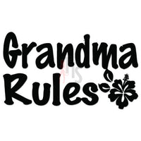 Grandma Rules Hisbiscus Decal Sticker