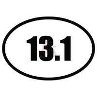 13.1 Miles Marathon Runner Decal Sticker