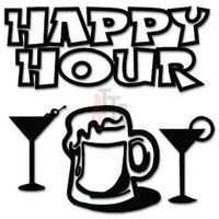 Happy Hour Bar Drinks Decal Sticker