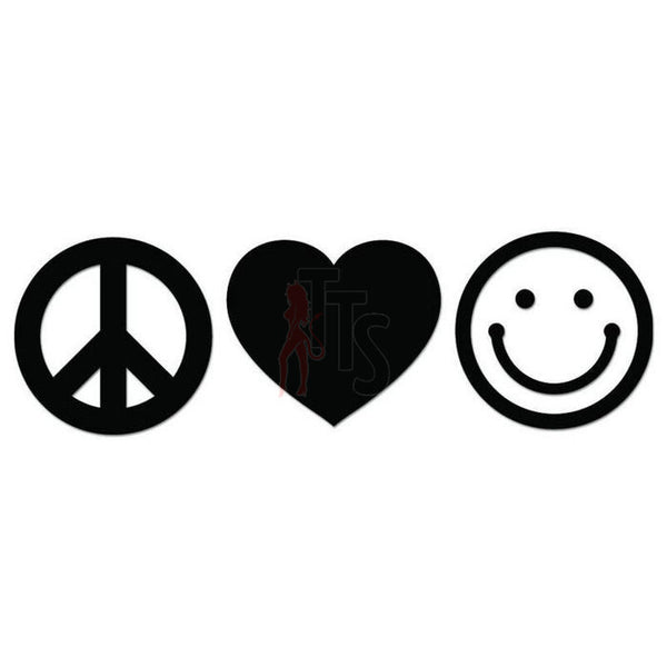 Peace Love Happiness Decal Sticker