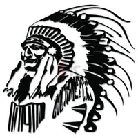 Indian Chief Headress Feathers Decal Sticker