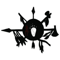 Indian Warrior Weapons Decal Sticker