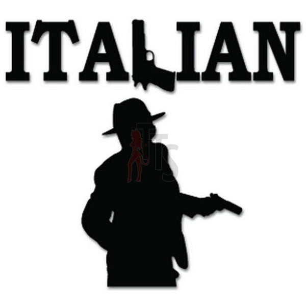 Italian Mob Gangster Decal Sticker