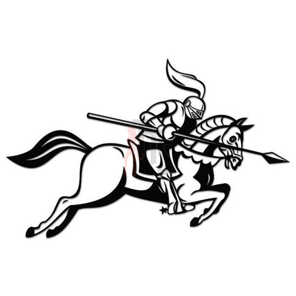Medieval Knight Jousting Decal Sticker