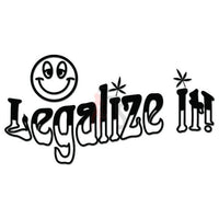 Smiley Weed Legalize It Decal Sticker