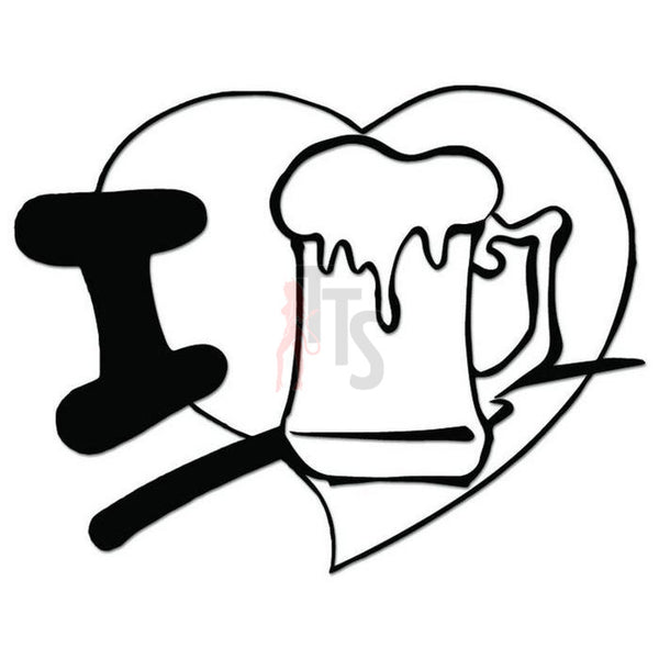 I Love Beer Decal Sticker