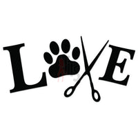 Love Groomer Dog Pets Decal Sticker