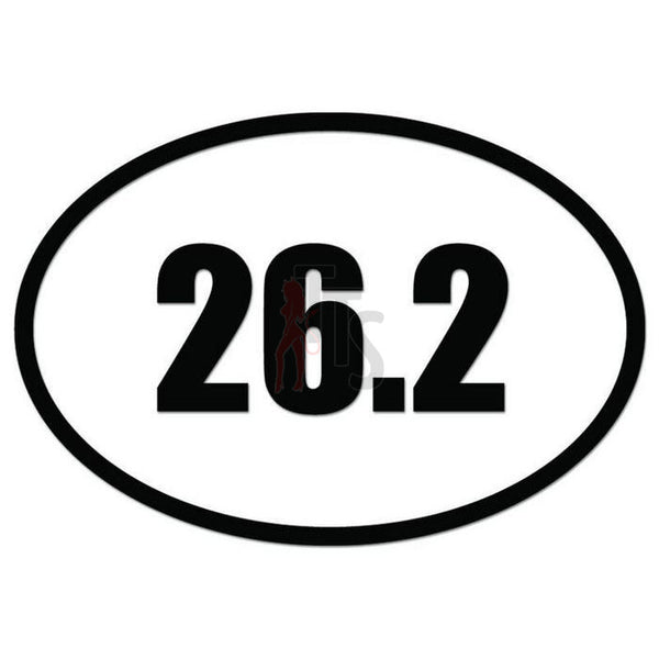 26.2 Miles Marathon Runner Decal Sticker