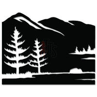 Mountain Outdoor Decal Sticker Style 1