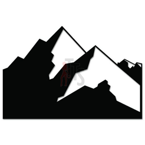 Mountain Outdoor Decal Sticker Style 2