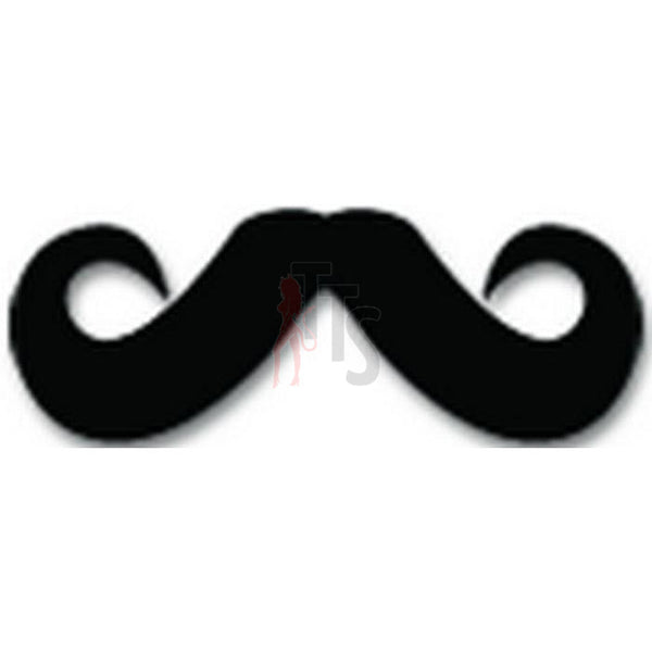 Mustache Men Hair Decal Sticker Style 7