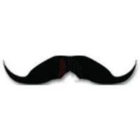 Mustache Men Hair Decal Sticker Style 5