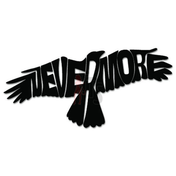 Raven Nevermore Edgar Allan Poe Decal Sticker Style 1