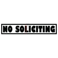 No Soliciting Sign Decal Sticker Style 1