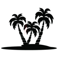 Palm Tree Beach Decal Sticker Style 7