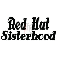 Red Hat Sisterhood Decal Sticker