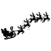 Santa Reindeer Christmas Decal Sticker