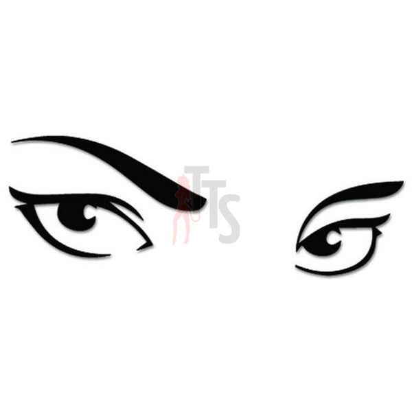 Girl Sexy Eyes Decal Sticker