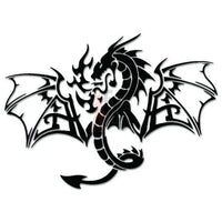 Fire Breathing Dragon Decal Sticker