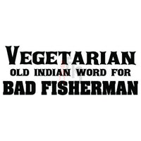 Vegetarian Bad Fisherman Decal Sticker