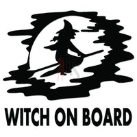 Witch on Board Halloween Decal Sticker