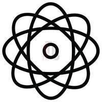 Atom Symbol Science Decal Sticker