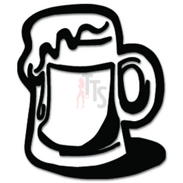 Beer Mug Decal Sticker