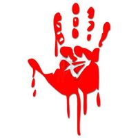 Bloody Hand Print Crime Decal Sticker