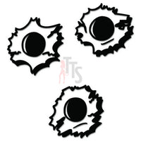 Bullet Holes Guns Decal Sticker