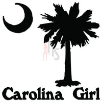 Carolina Girl Palm Tree Decal Sticker