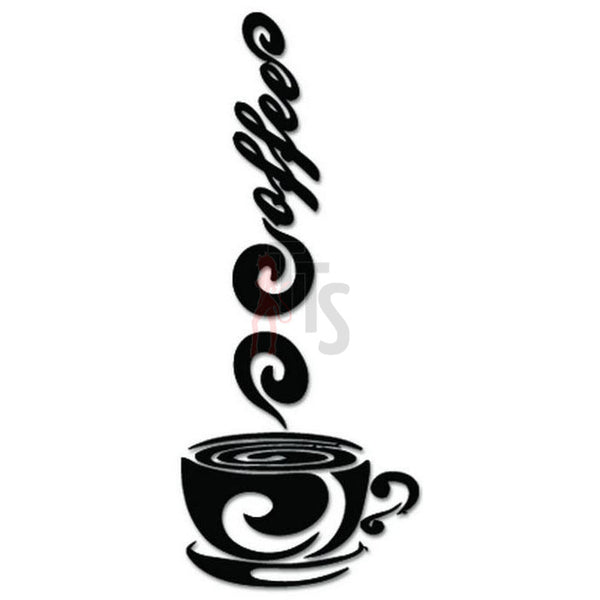Coffee Cup Caffeine Decal Sticker Style 3