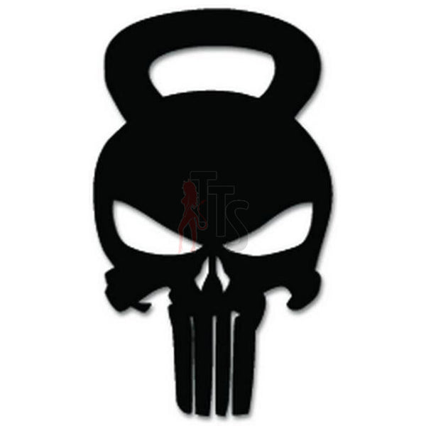 Punisher Skull Crossfit Decal Sticker