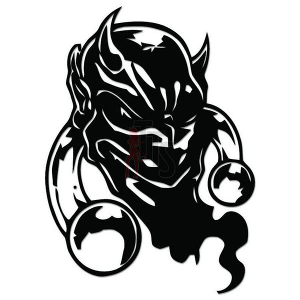 Devil Face Decal Sticker