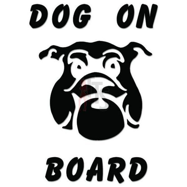 Dog on Board Decal Sticker