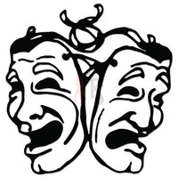 Theater Drama Mask Comedy Tragedy Decal Sticker