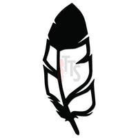 Single Feather Bird Decal Sticker Style 1