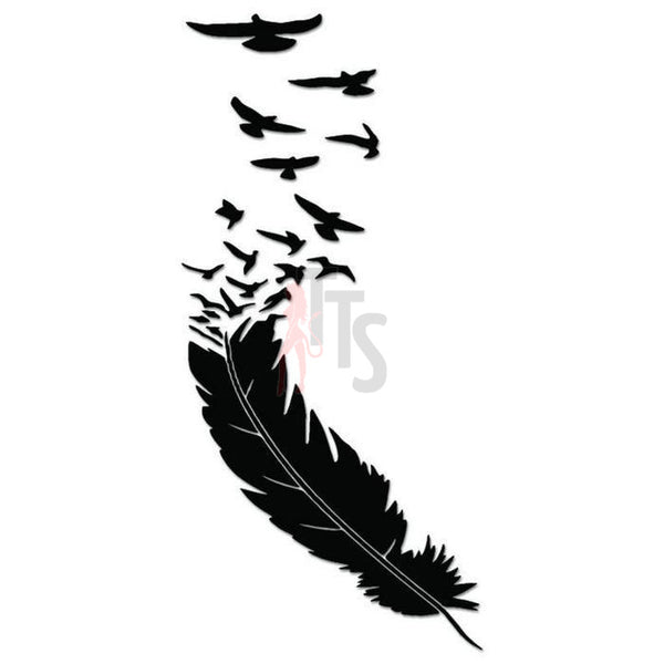 Feather Birds Decal Sticker