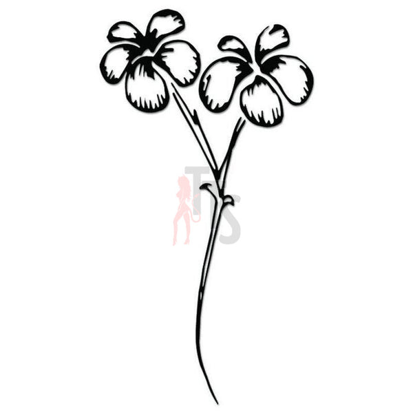 Flower Plant Decal Sticker Style 2