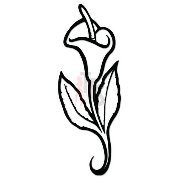 Calla Lily Flower Decal Sticker Style 1