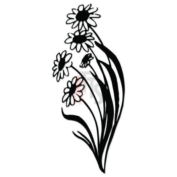 Daisy Flower Decal Sticker Style 3
