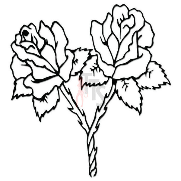 Rose Flower Decal Sticker Style 10