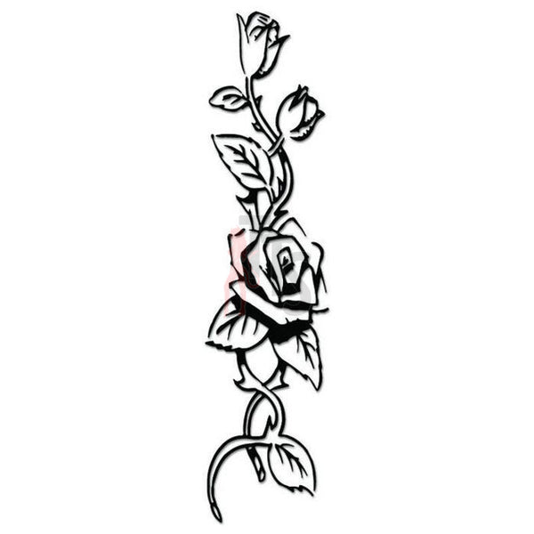 Rose Flower Decal Sticker Style 11