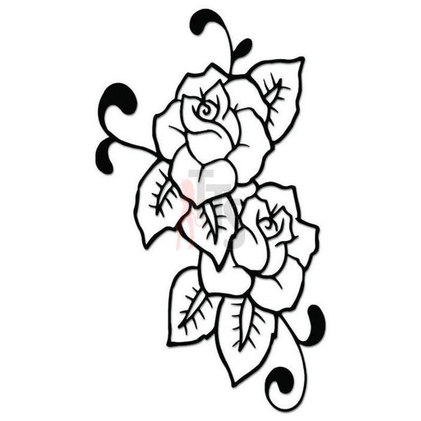 Rose Flower Decal Sticker Style 15