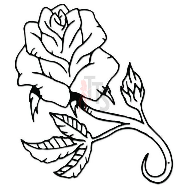 Rose Flower Decal Sticker Style 16