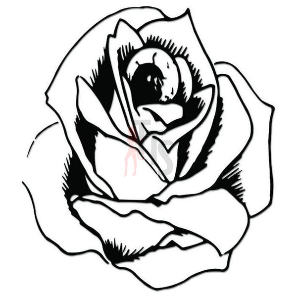 Rose Flower Decal Sticker Style 2