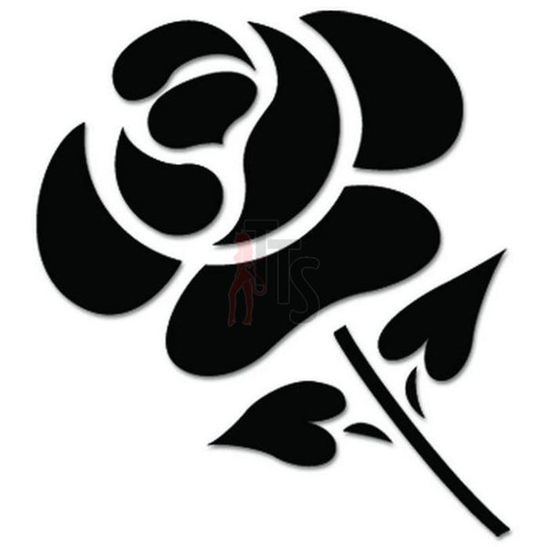 Rose Flower Decal Sticker Style 4